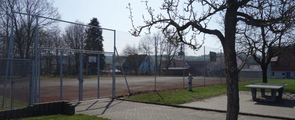 Sportgelände Der Drei-Franken-Schule In Geiselwind